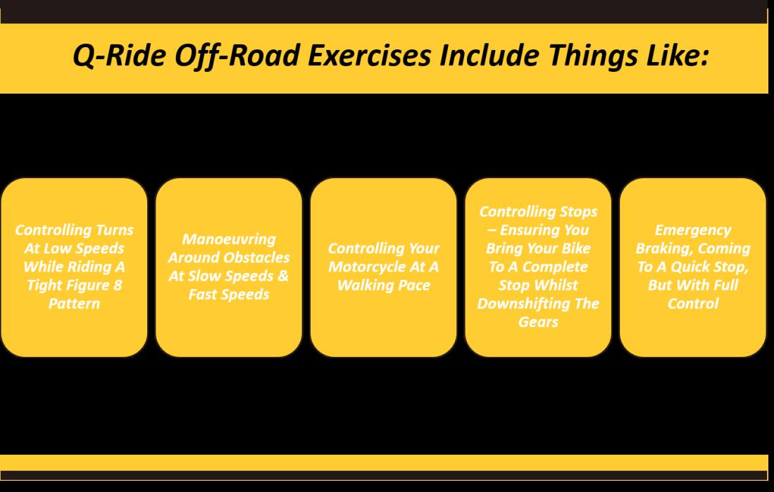 q-ride off road exercises